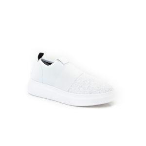 Fessura Edge Clean White Sequin Sneaker