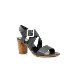 Piampiani Venice Black 7834 sandal heel