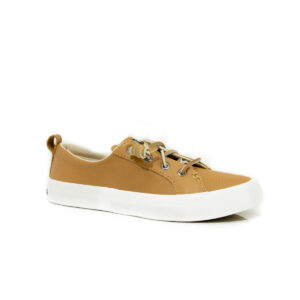 Sperry Crest Vibe Leather Tan 84256 womens boat shoe