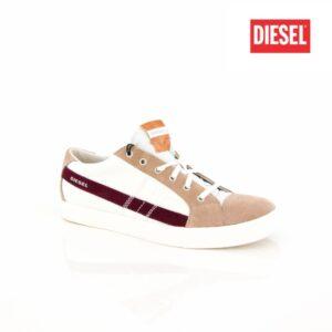 Diesel D-String Low Mens Dirty White Chinchil Mens Sneakers