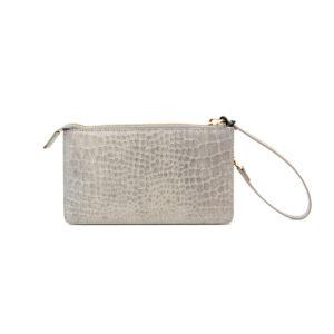 Vash Polaris Grey Croc Wallet