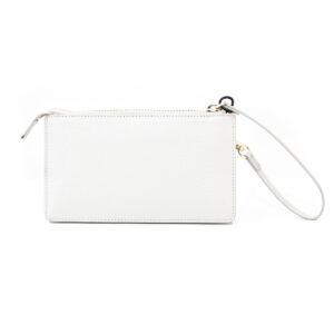 Vash Polaris Cream Croc Wallet