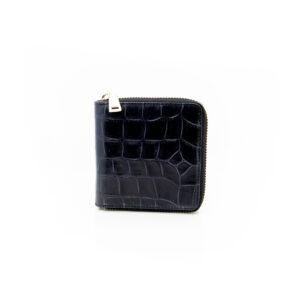 Vash Atlas Black Croc Wallet