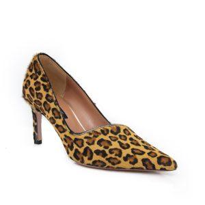 Oxitaly Stefy 02 Pony Leopard Cognac Heels