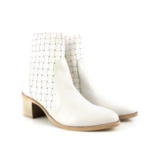 Donna Carolina Woven Bianco Boot